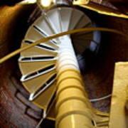 Lighthouse Stairway Art Print