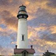 Lighthouse Visitors Art Print