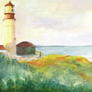 Lighthouse-watercolor Art Print