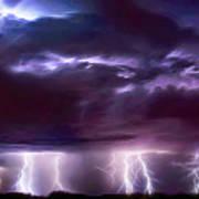 Lightning Above And Below Art Print