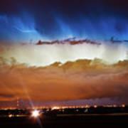 Lightning Cloud Burst Boulder County Colorado Im34 Art Print