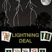 Lightning Deal  Poker Cards Art Print