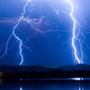 Lightning Storm 08.05.09 Art Print