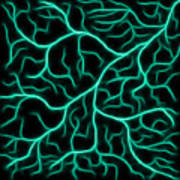 Lightning - Teal Art Print