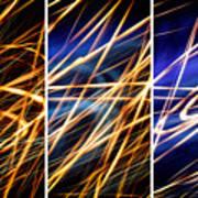 Lightpainting Triptych Wall Art Print Photograph 6 Art Print