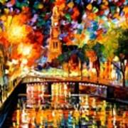 Lights And Shadows Of Amsterdam Art Print