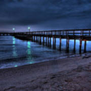 Lights At The End Of The Pier Art Print
