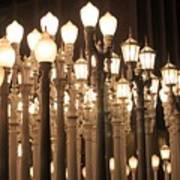 Lights At The Lacma La County Museum Of Art 0768 Art Print