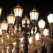 Lights At The Lacma La County Museum Of Art 0769 Art Print