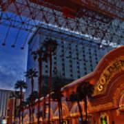 Lights In Down Town Las Vegas Art Print