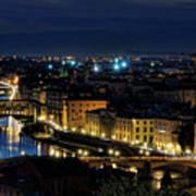 Lights Of Florence Art Print