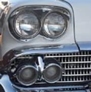 Lights On A '58 Chevy Art Print