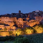 Lights On Pitigliano Art Print