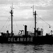 Lightship Delaware Vintage 1968 Art Print