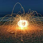 Lighty Fireworks Art Print