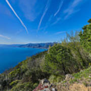 Liguria Paradise Gulf Panorama Art Print