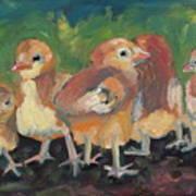 Lil' Chicks Art Print