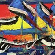 Lil Funky Folk Fish Number Nine Art Print