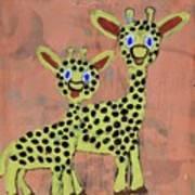 Lil Giraffes Art Print