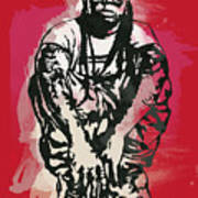 Lil Wayne Pop Stylised Art Sketch Poster Art Print