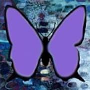 Lila Papillon Art Print