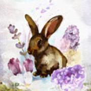 Lilac And Bunny Art Print