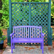 Lilac And Teal Garden Art Print