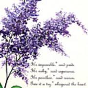 Lilac  Poem Art Print