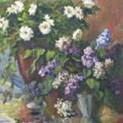 Lilacs And Asters Art Print by Tigran Ghulyan