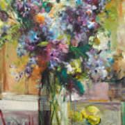 Lilacs And Lemons Art Print