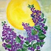 Lilacs In The Midnight Sun Art Print