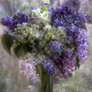 Lilacs Of Love Art Print