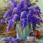 Lilacs Still Life Art Print