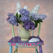 Lilacs With Chair And Shell Art Print