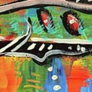 Lil'funky Folk Fish Number Fifteen Print by Robert Wolverton Jr