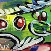 Lil'funky Folk Fish Number Thirteen Art Print by Robert Wolverton Jr