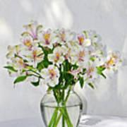 Lilies In A Vase 001 Art Print