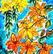 Lilies Of The Lake Art Print