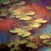 Lilly Pond In Autum  Art Print