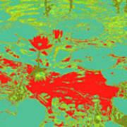 Lily Pads And Koi 33 Art Print