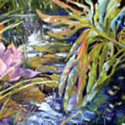Lily Pond Light Dance Art Print
