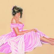 Lily The Pink Art Print by Vanda Luddy