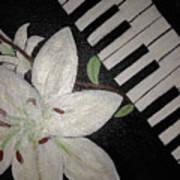 Lily's Piano Art Print