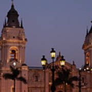 Lima Cathedral Twin Towers One Art Print