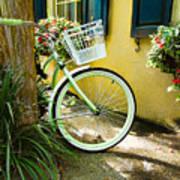 Lime Green Bike Art Print