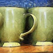 Lime Green Cups Art Print