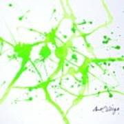 Lime Green Study Art Print