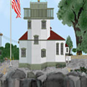 Lime Kiln Light On San Juan Island Art Print