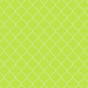 Lime Punch Quatrefoil Art Print