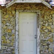 Limestone House Door Art Print